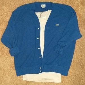 Vintage blue Lacoste cardigan